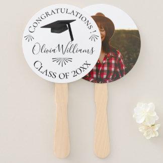 Graduation Cap Class of 2018 Photo Hand Fan