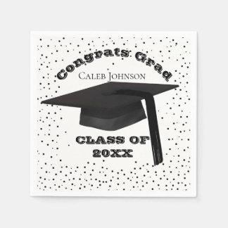 Graduation Cap Confetti Napkins Disposable Napkin