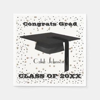 Graduation Cap Confetti Napkins Paper Napkin