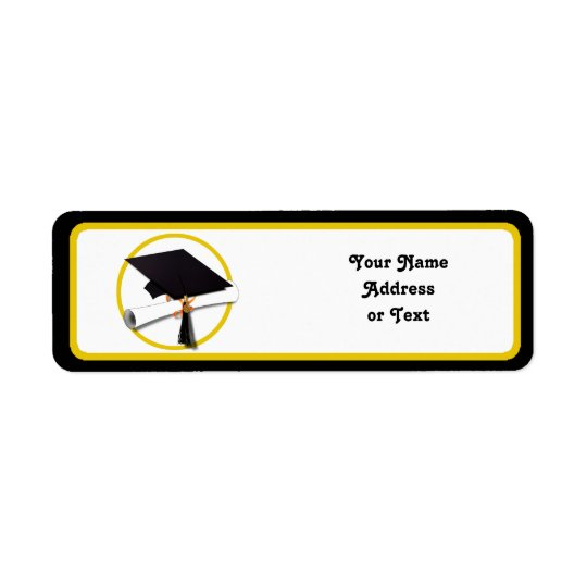 Graduation Cap & Diploma Return Address Label