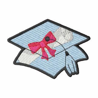 Graduation Cap Embroidered Track Jacket