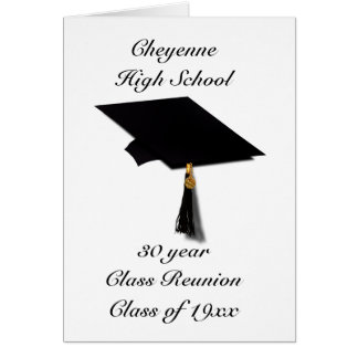 Graduation Cap - High School Class Reunion Card