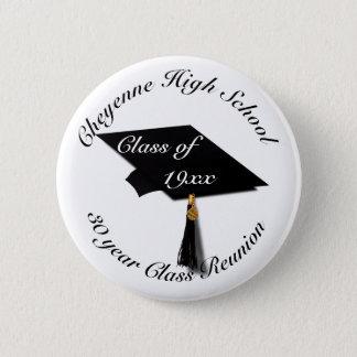 Graduation Cap - High School Reunion 6 Cm Round Badge