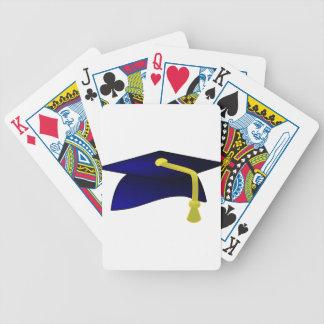 Graduation Cap Illustration Bicycle Playing Cards