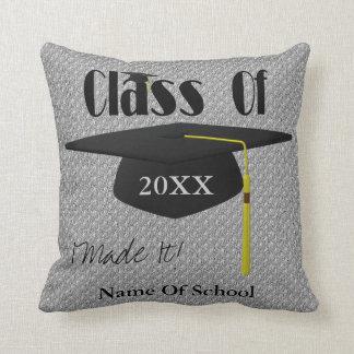 Graduation Cap Personalised Throw Cushion