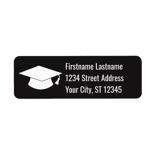 Graduation Cap Return Address Return Address Label