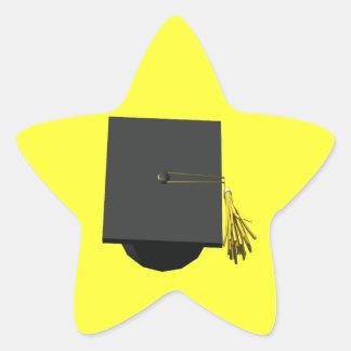 Graduation Cap Star Sticker