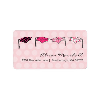 Graduation Caps Address Label