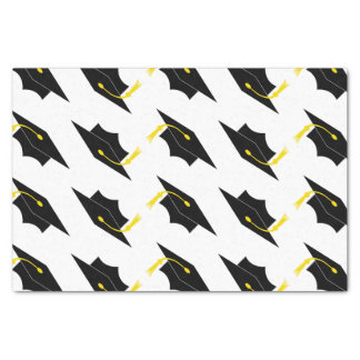 Graduation Caps Pattern Tissue Paper