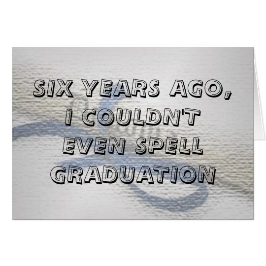 Graduation Card (with a nice ccover)