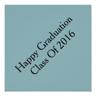Graduation cards 13 cm x 13 cm square invitation card
