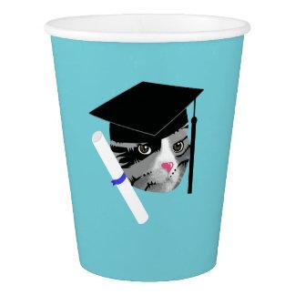 Graduation Cat Paper Cup