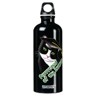 Graduation Cat Water Bottle