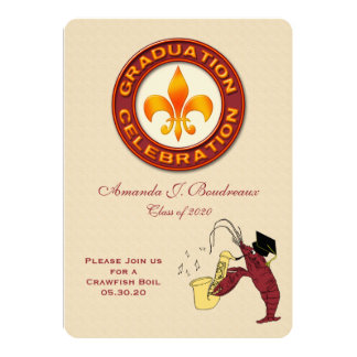Graduation Celebration Crawfish Boil Party Card