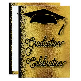 Graduation Celebration Grad Party Faux Gold Modern Card