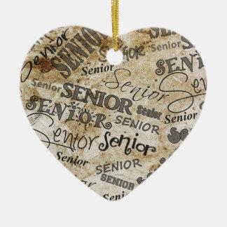 graduation ceramic heart decoration