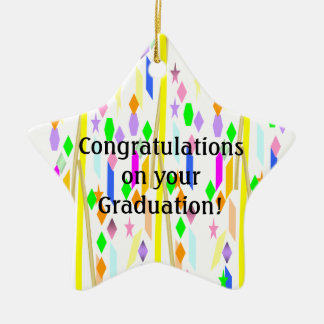Graduation Ceramic Star Decoration