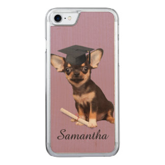 Graduation Chihuahua dog Carved iPhone 8/7 Case