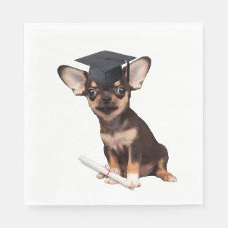 Graduation Chihuahua Paper Serviettes
