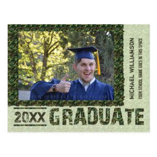 Graduation Class 2016 Camouflage Photo Customized Postcard