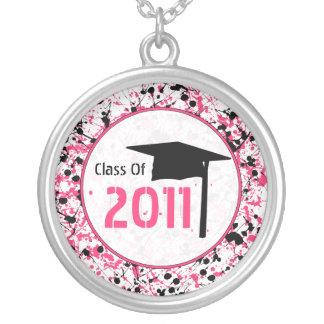 Graduation Class Of 2011 Black & Pink Paint Necklace