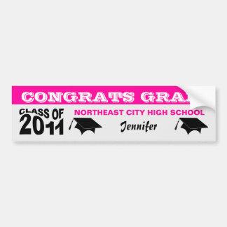 Graduation Class of 2011 Bumper Sticker 2