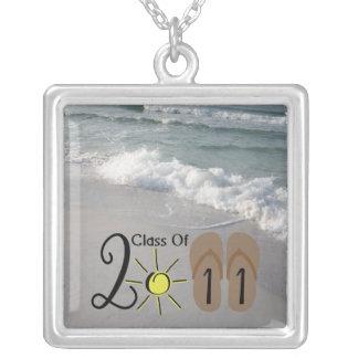 Graduation Class Of 2011 Flip Flops & Ocean Waves Necklace