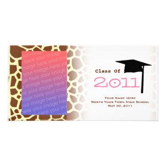 Graduation Class Of 2011 Giraffe Print Photocard Photo Cards