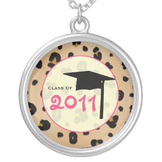 Graduation Class Of 2011 Leopard Print & Pink Necklaces