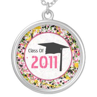 Graduation Class Of 2011 Multicolor Paint Splatter Necklaces