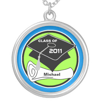 Graduation Class Of 2011 Round Necklace Diploma 7