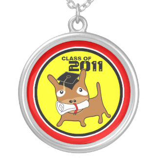 Graduation Class Of 2011 Round Necklace Puppy 3