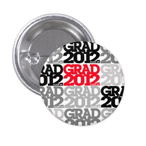 Graduation Class Of 2012 Button Black Red 5