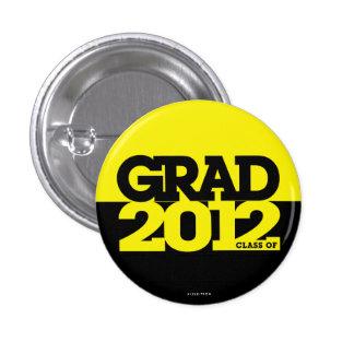 Graduation Class Of 2012 Button Yellow Black