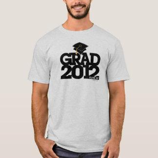 Graduation Class Of 2012 Gown Cap T-Shirt Black