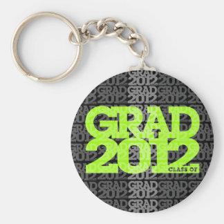 Graduation Class Of 2012 Keychain Black Green