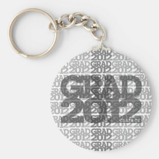 Graduation Class Of 2012 Keychain Gray