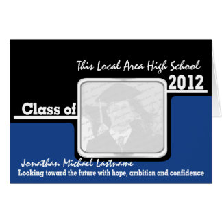 Graduation Class of 2012 Photo Black Greeting Card