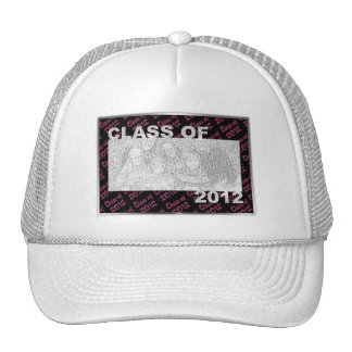 Graduation - Class Of 2012 - Pink and Black Mesh Hats