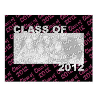 Graduation - Class of 2012 - Pink and Black Postcard