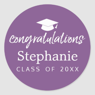 Graduation Class of 2017 - CAN CHANGE BACK COLOR Round Sticker