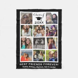 Graduation Class of 2017 Instagram Photo Collage Fleece Blanket