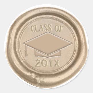 Graduation Class of 2018 Classic Gold Wax Seal