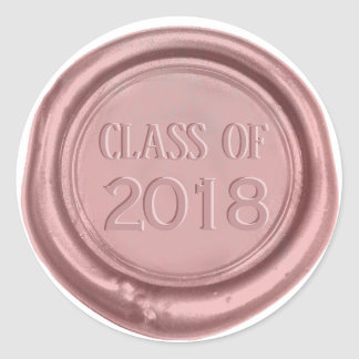 Graduation Class of 2018 Rose Gold Wax Seal