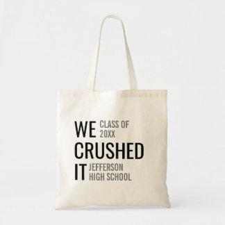 Graduation Class of 2018 School Name Custom Trendy Tote Bag