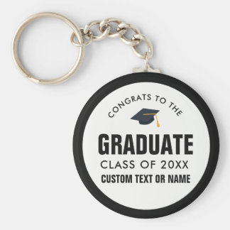 Graduation Class of 2018 Your School Custom Color Key Ring