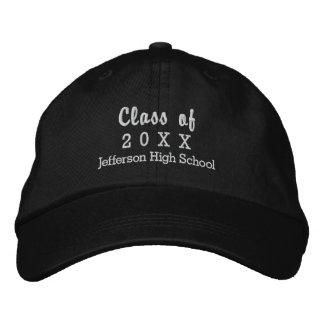 Graduation Class of 20XX Custom High School Name Baseball Cap