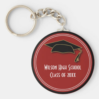 Graduation Class of Keepsake School Color Key Ring