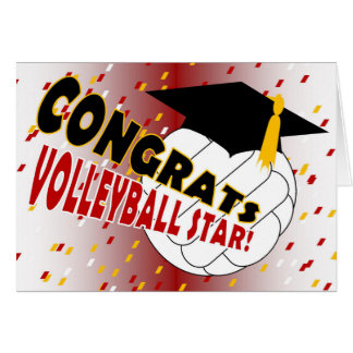 Graduation Congratulations for a Volleyball Star Card