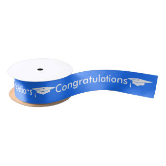 Graduation - Congratulations - Ribbon Satin Ribbon